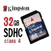memória sd card 32gb kingston sdhc class 4