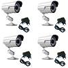 kit 4 cameras de segurança infra 40 metros 800 linhas externa
