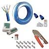 kit cabo de rede 100 metros com ferramentas e conectores