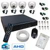 kit 4 cameras 800l interna infra + dvr + hd 320gb + acessórios