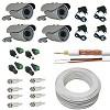 kit 4 cameras de segurança + fontes + 100 metros de cabo e conectores