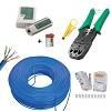 kit cabo rede internet 100 mt + 50 conector rj45 + alicate crimpar pro+ testador