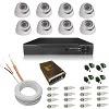 kit cftv dvr  8 canais + 8 cameras interna + cabo + fonte + conectores