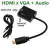 cabo conversor de hdmi x vga + audio - adaptador hdmi macho para vga femea
